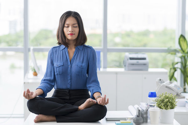 Meditation in office