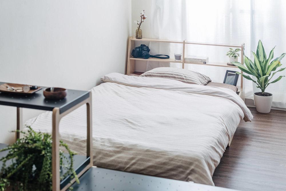 家具设计散发慵懒舒适的氛围。