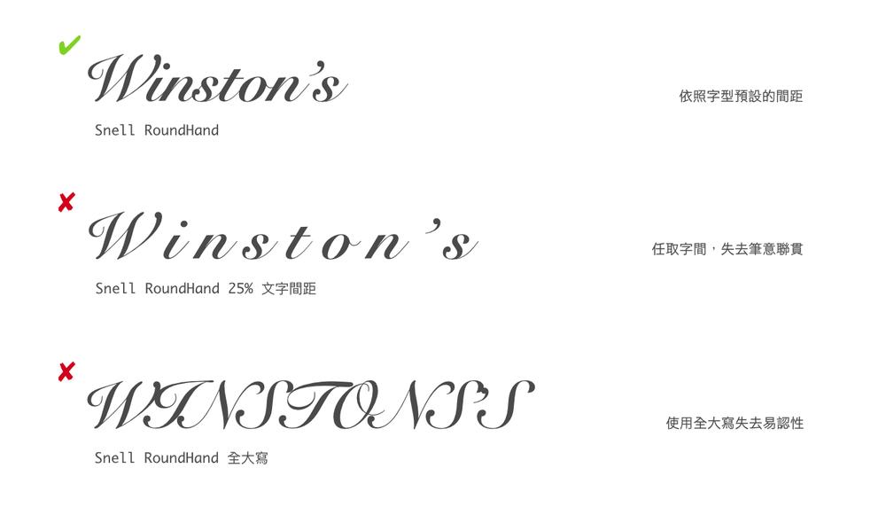 使用铜板草书类字型需要注意的地方