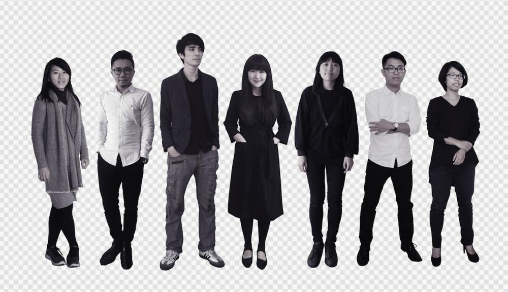 (左起:罗晨绮、曹凯瑞、赵尉翔、曾令理、蔡旼珊、陈冠玮、林于暄)