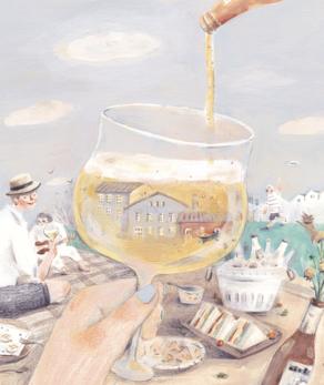 在逐渐转凉的九月,最适合带着美酒与佳肴,和好友们一起到华山享受的野餐乐趣。