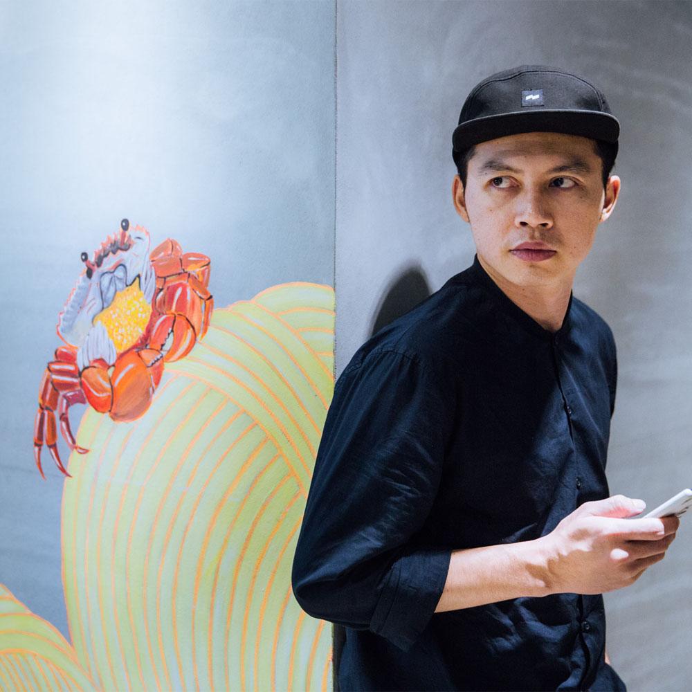 张简士扬,曾为澳洲歌手Gotye台湾演唱会创作视觉元素。