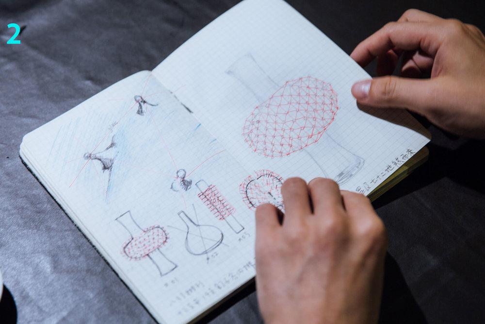 张简士扬大方与读者分享他的创作笔记。