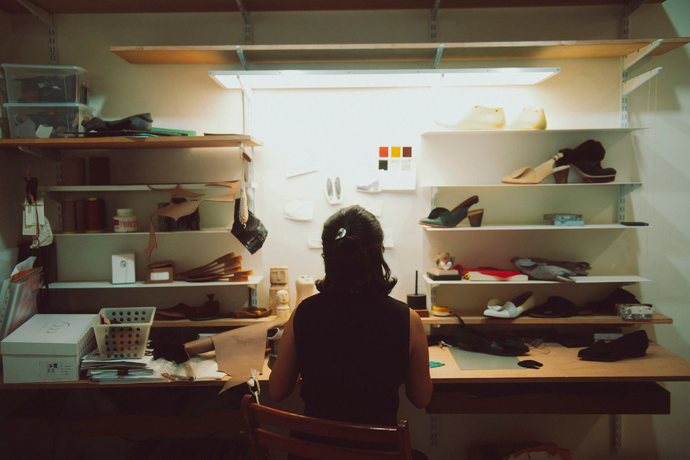 工作台面是鞋履设计的原点。