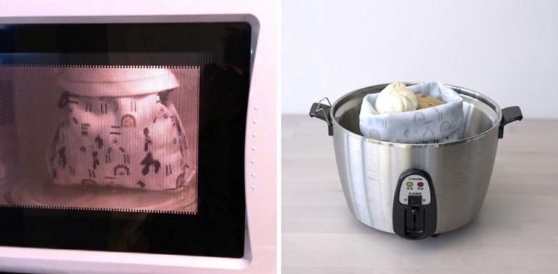 好食袋可直接放进微波炉、电锅加热。图片来源:OFoodin 好食袋集资页面