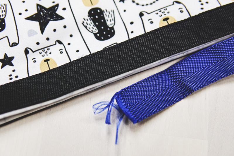 上:好食袋使用的织带。 下:一般织带。摄影:jie