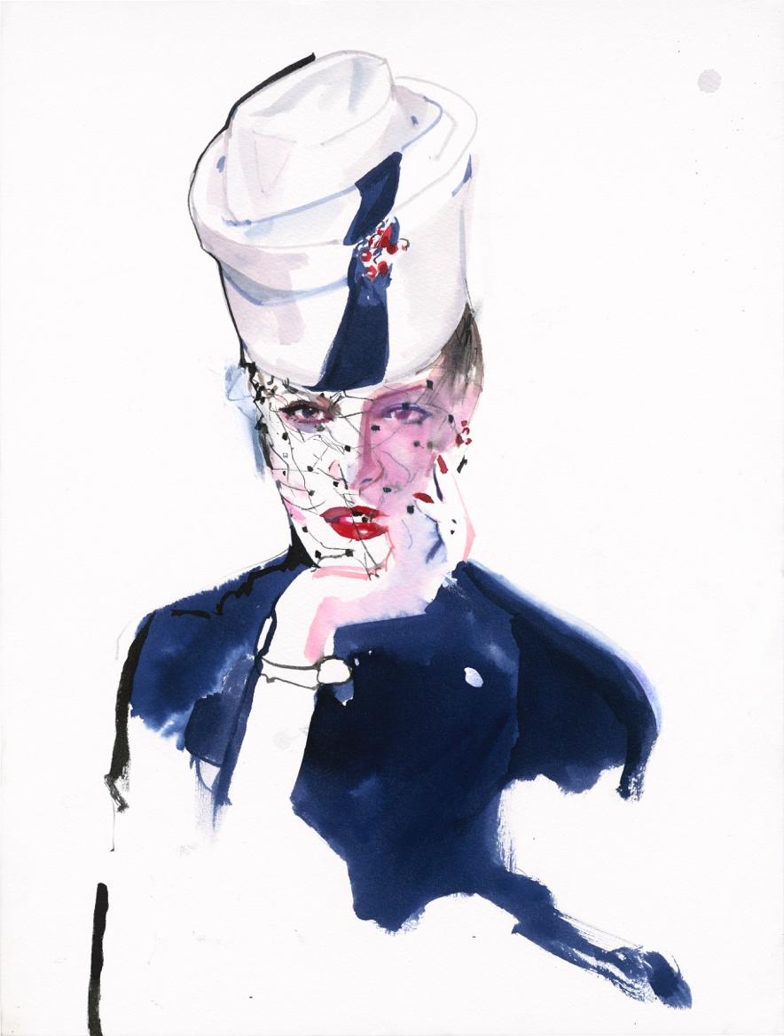 """为了精准传达出人物的""""时尚感"""",花费多年时间观察临摹模特儿的举手投足。"""