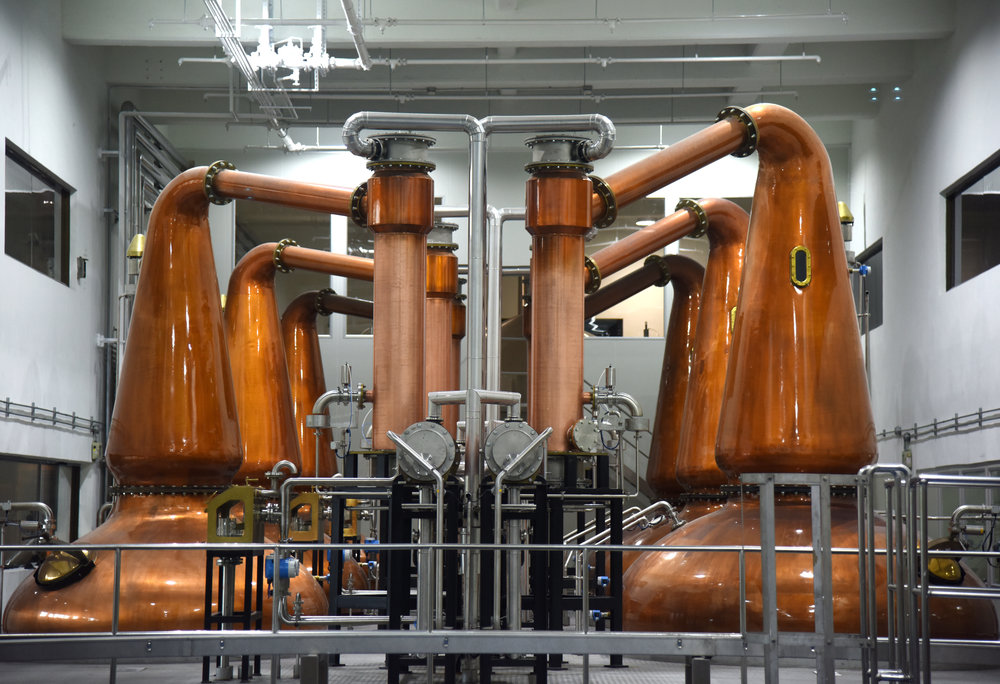 ▲图一:噶玛兰酒厂内共十套苏格兰蒸馏器。