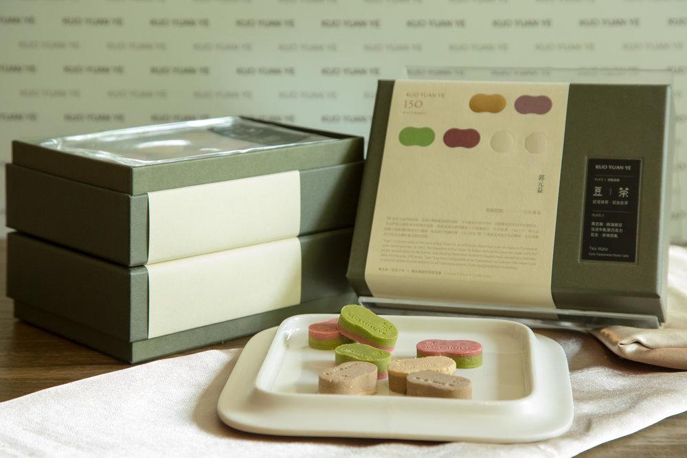 """郭元益150周年时,特别邀请设计鬼才聂永真携手合作, 融合中西元素打造出台湾第一款""""设计师糕饼""""。"""
