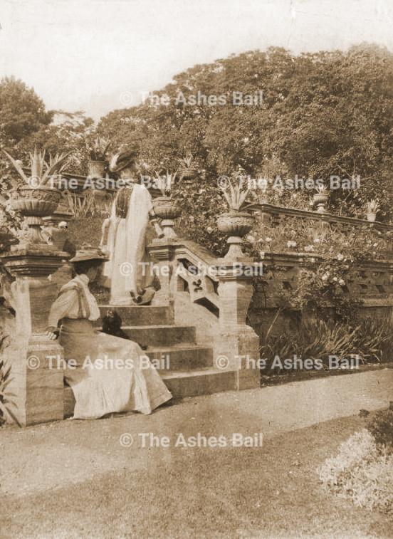 Lady Darnely in Cobham Hall garden