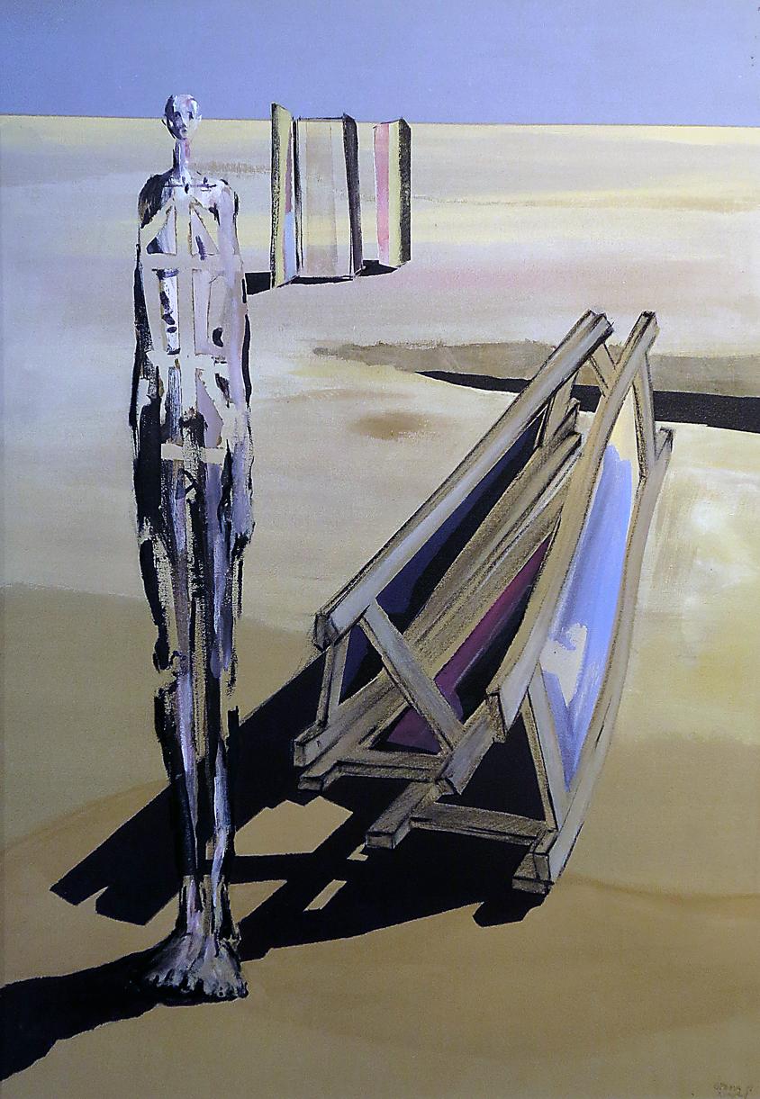 Paravent I, Acryl auf Leinwand 135 x 95 cm