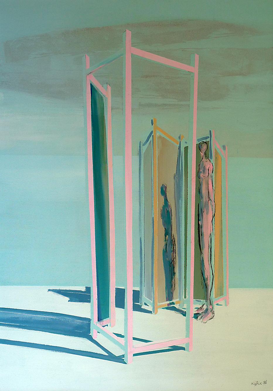 Paravent II, Acryl auf Leinwand 135 x 95 cm