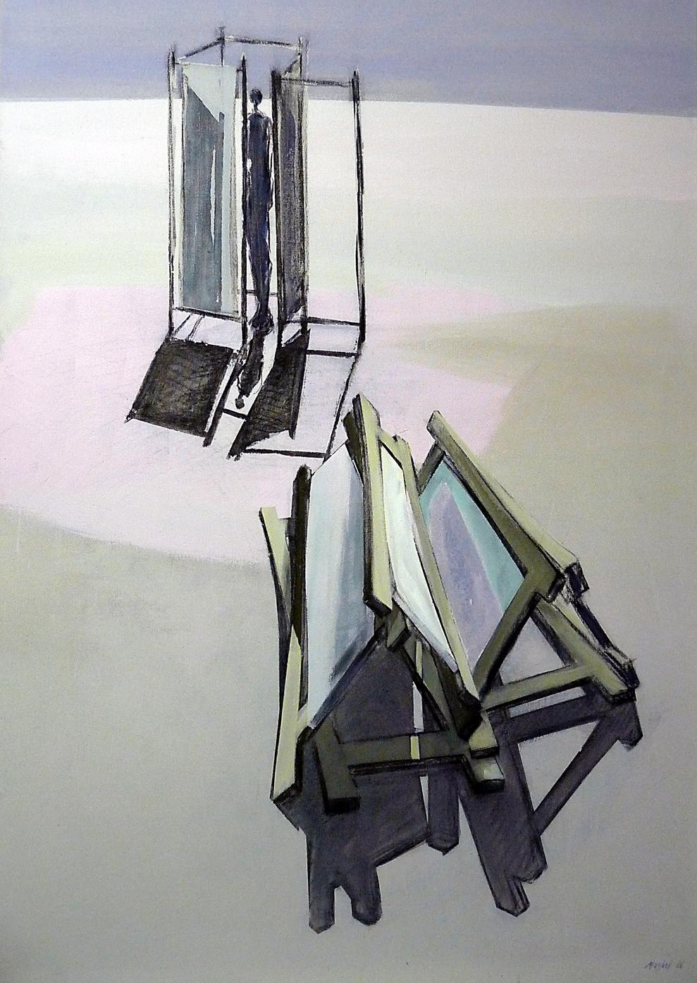 Paravent III, Acryl 135 x 95 cm