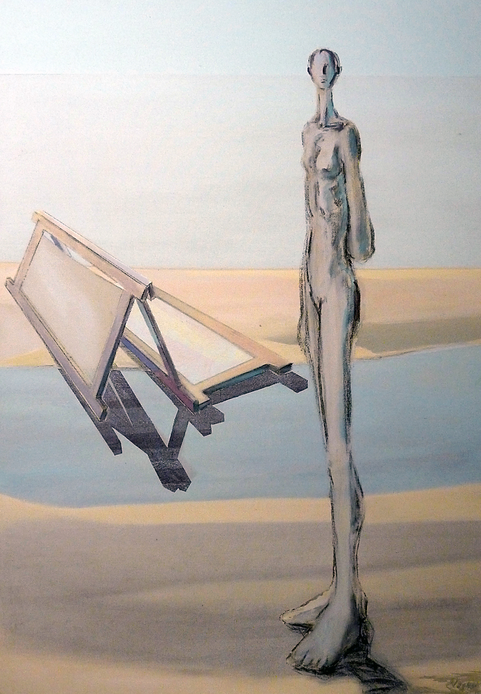 Paravent IV, Acryl auf Leinwand 135 x 95 cm
