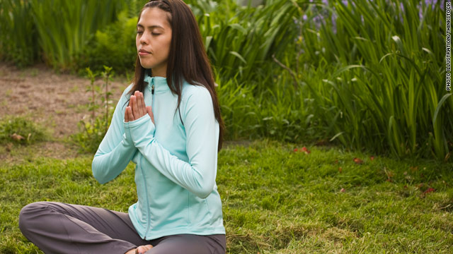 Meditating woman via CNN.com