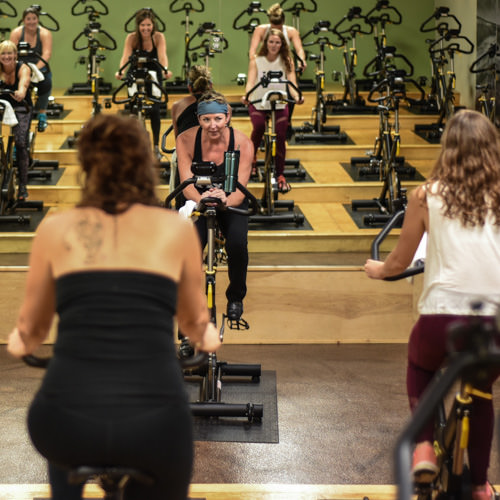 Cycle + Strength - This class includes 40 minutes of indoor cycling. A fun and challenging cardiovascular workout, using high and low intensity intervals. Class will finish with a strengthening segment off the bike, using weights, bands and balls, targeting all major muscle groups.