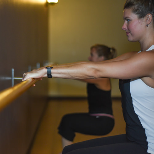 Barre Fusion - This class is a high-energy fitness class that combines core conditioning, pilates, yoga, and barre work for a well-toned body. This class is open to all levels and requires no prior experience, but postures do advance.