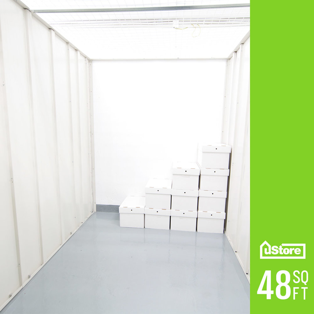 48 sq. ft. storage unit (Height: 7ft.)