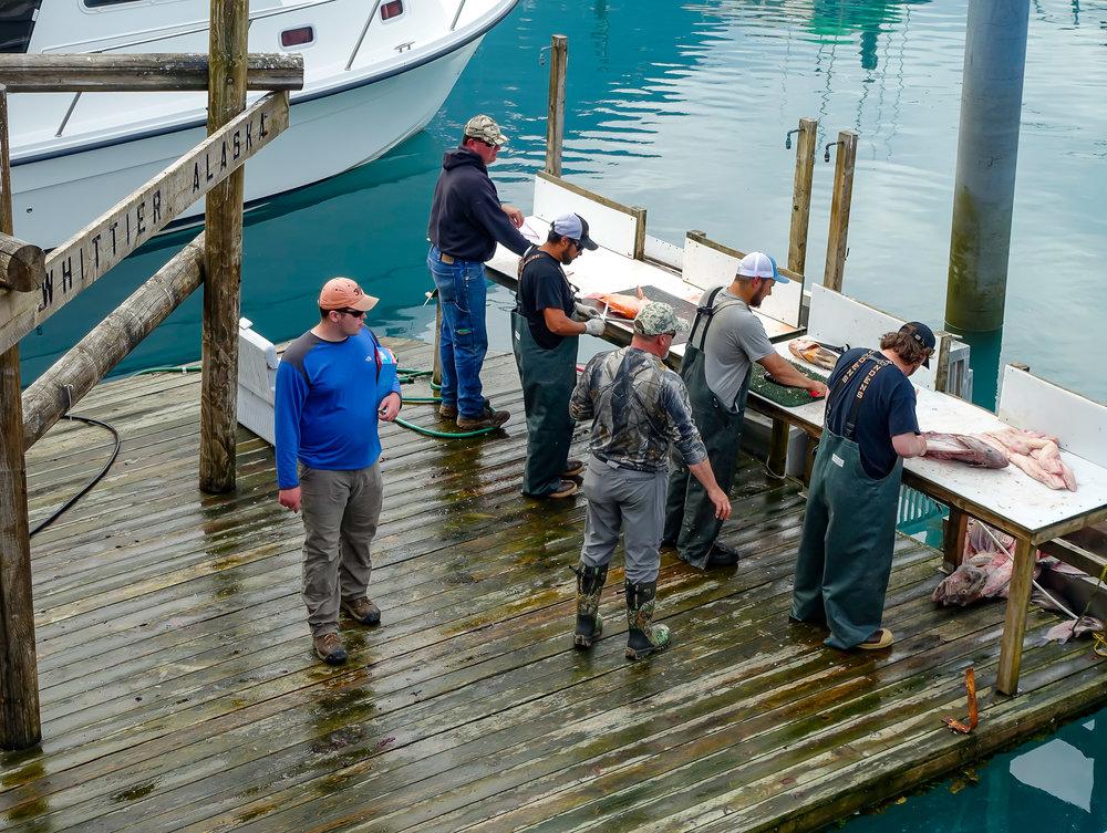 Fishermen at work.