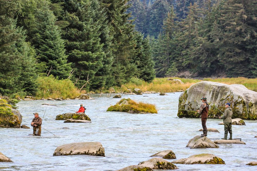 Salmon hunters.