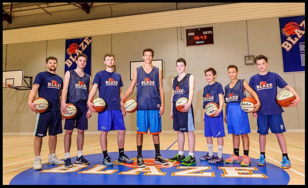 BLAZE MALE SQUADS - U12 Boys, U14 Boys, U16 Men, U18 Men and Senior Men Squad for the 2018/19 Season