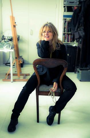 Geraldine in her studio