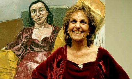 Paula Rego with Painting