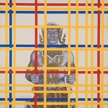 Break Free (After P. Mondrian)  Acrylic on Canvas (2010)