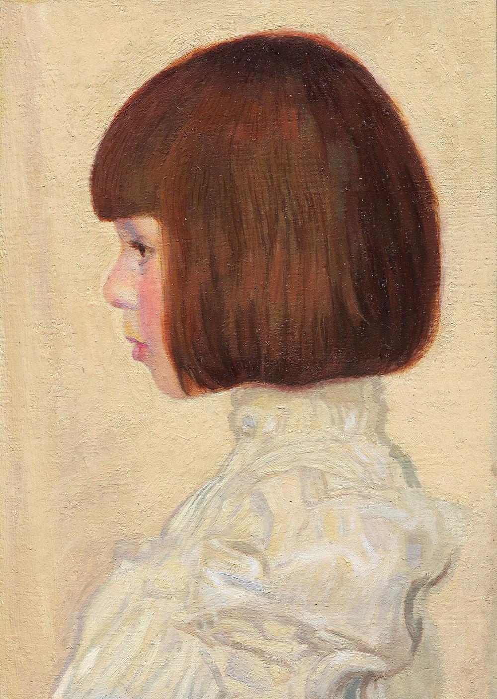 Mark Peppé - Detail of Gustav Klimt's Portrait of Helene Klimt. 1898 Original 60x40cm. Privately owned.jpg