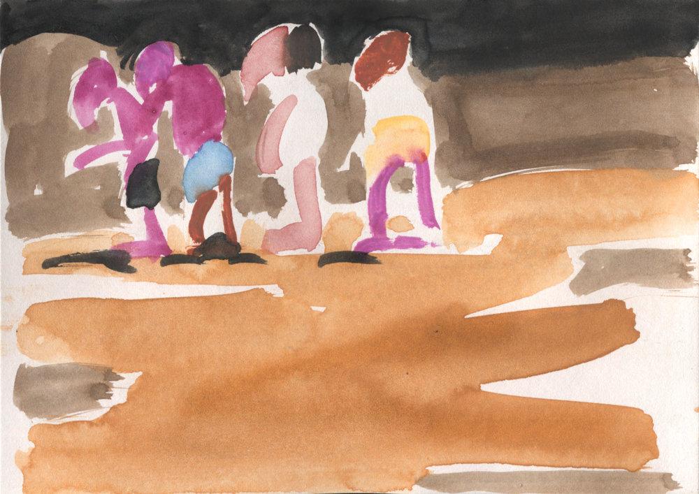 Susie Hamilton - Procession on Beach.jpg