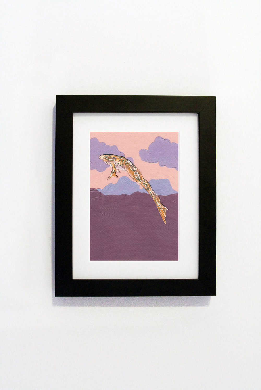 Sunset Frog Black Frame.jpg