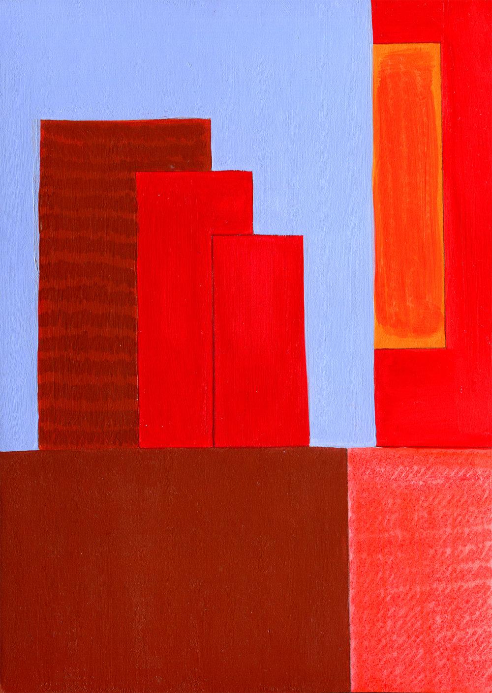 Cathy Tabbakh - Blue Light on Red Buildings.jpg