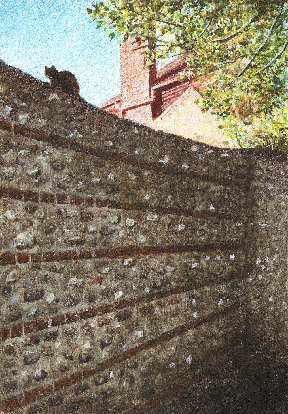 Peter Messer - Flint Wall and Cat.jpg