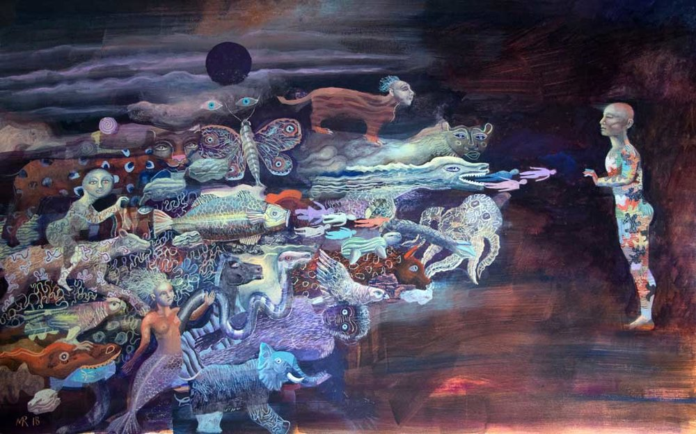 Spilled Planet  , Mick Rooney RA - Image source:  Fosse Gallery