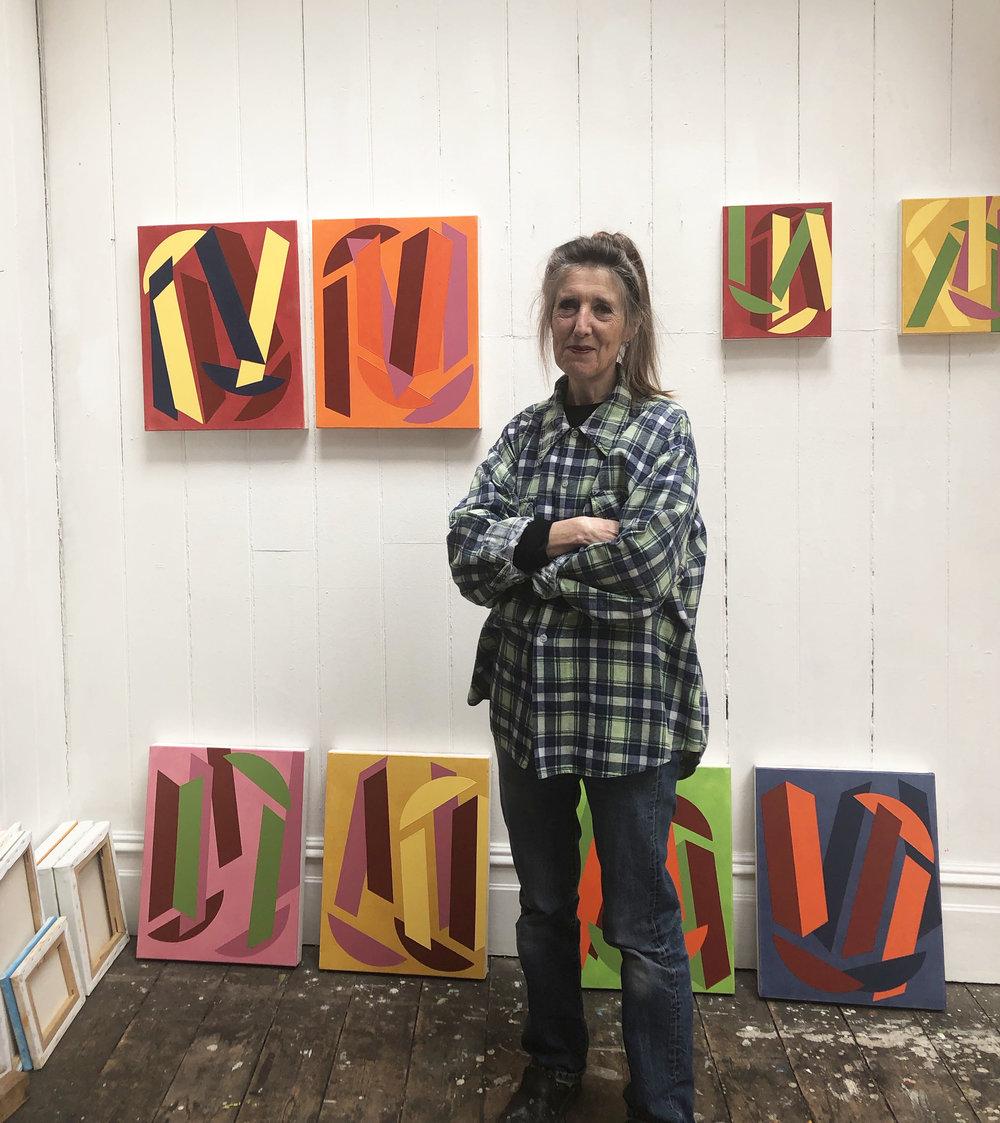 Vanessa Jackson RA in her studio