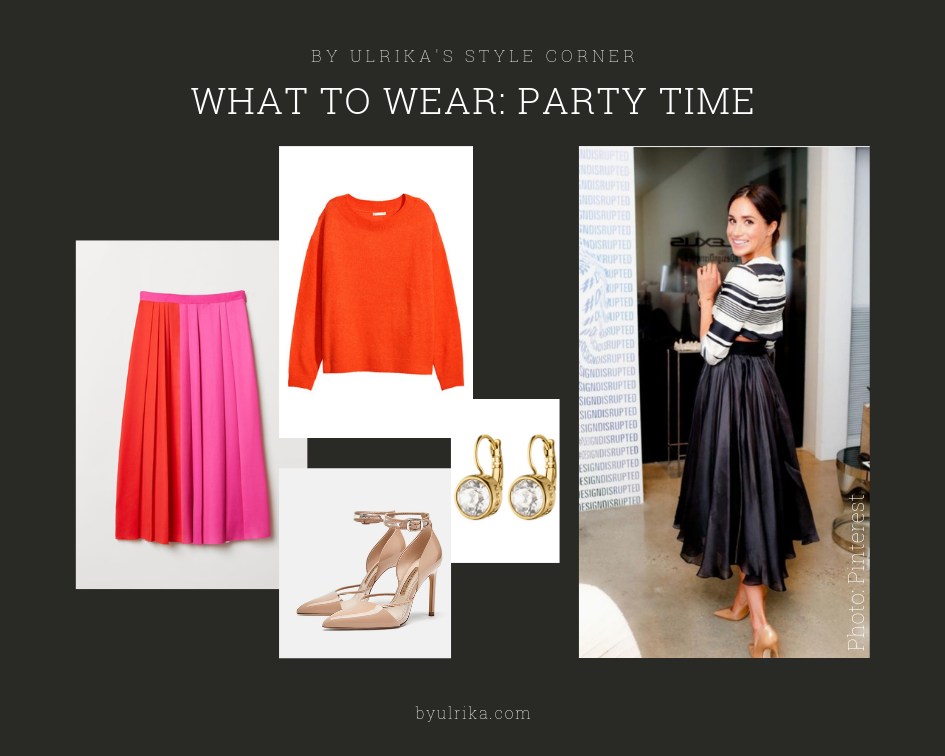 Photos: H&M (skirt & knitwear), Zara (heels), Dyrberg/Kern (earrings)