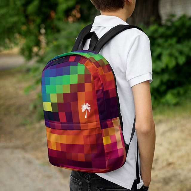 The all new Pixel Backpack now available! Check out our complete backpack collection #jjmiami #bag