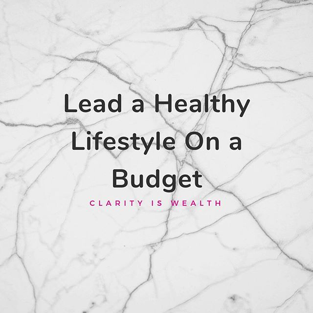 Healthy lifestyle on a #budget? Is that possible?! Heck yes! Check out our newest blog post to find out how 🤩💜 #gotclarity