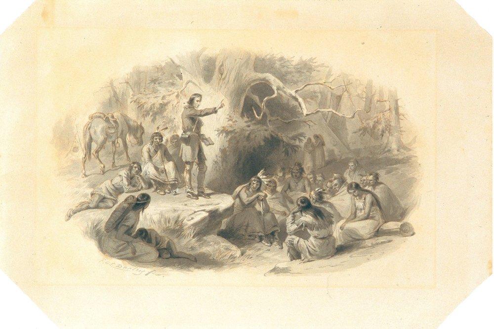 John Eliot preaching to the Indians