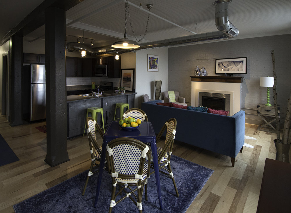 TURNER BROTHERS APARTMENTS ABOVE RU'S  Photo and Staging by  Katie Schneider Photography