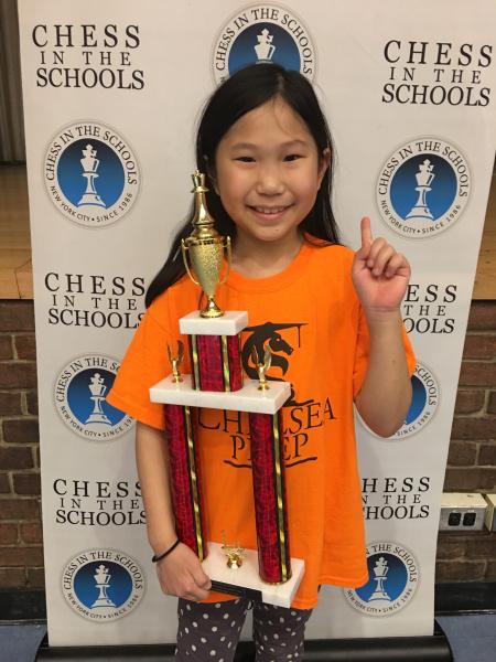 Peter Cooper Village chess champ Abigail Yang (Photo by Jenny Yang)