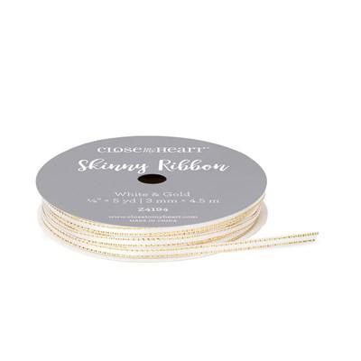White and Gold Skinny Ribbon.jpg