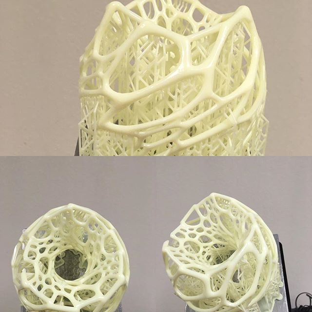 Printed a Veroni light cage for my gf, I'll might add a light or led strip depending on how it looks #drdl #light #whiteresin