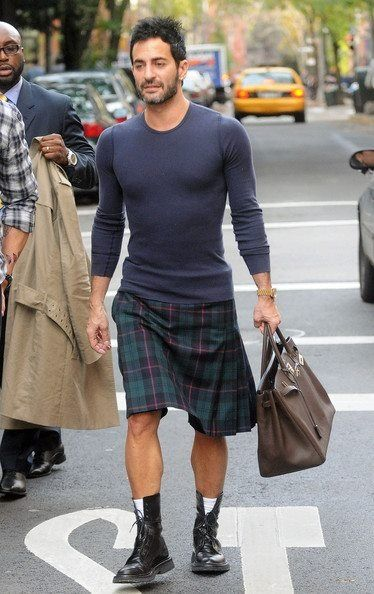 Marc Jacobs rocks a kilt