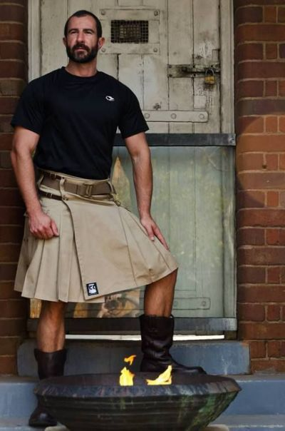 Macho in a kilt