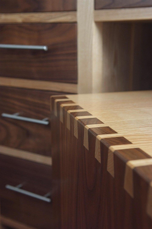 Ash & Walnut Dressing Table & Stool