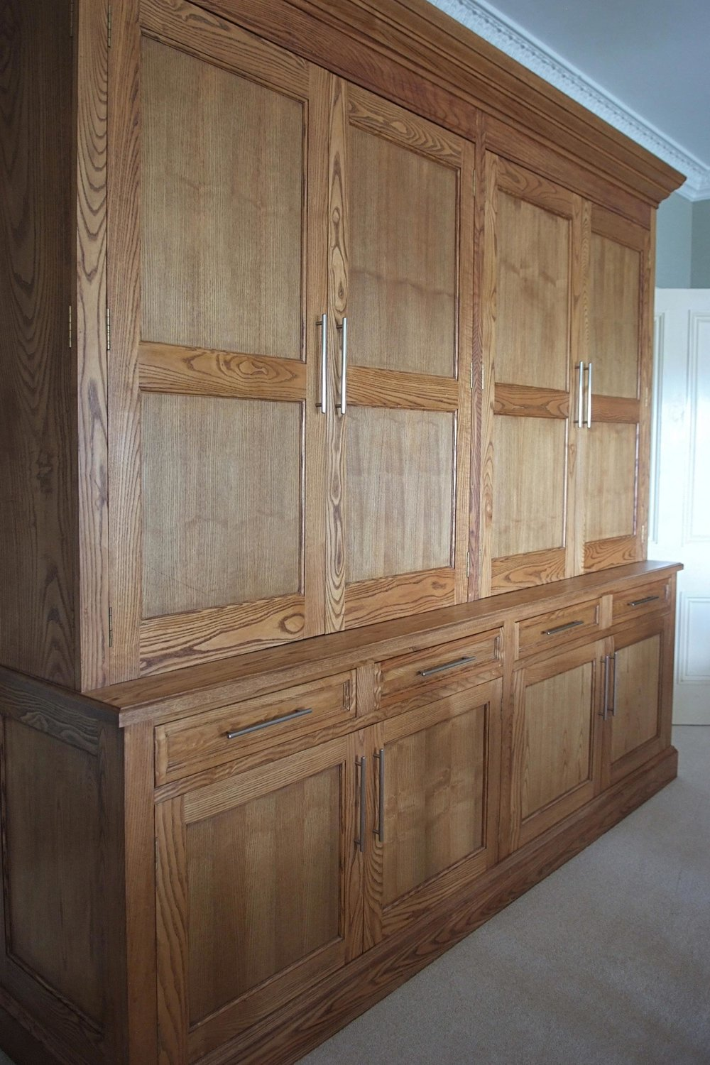 Stained Ash Dining Room Dresser