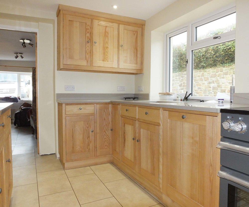 English Ash Kitchen Units with Granite Worktops