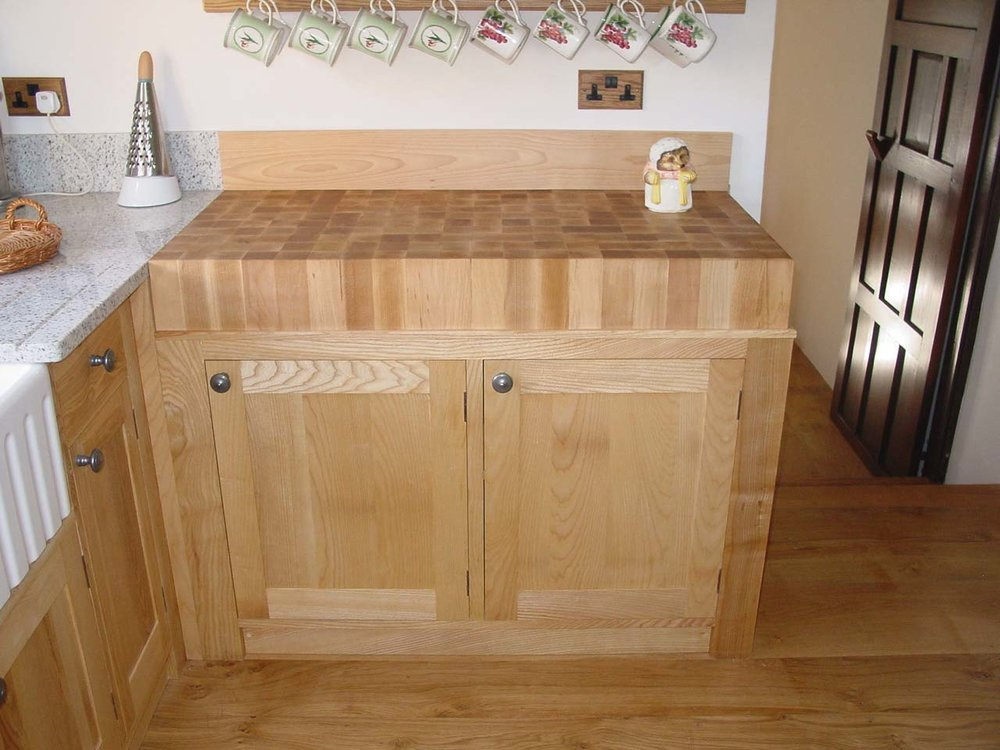 Integrated Beech Butchers Block
