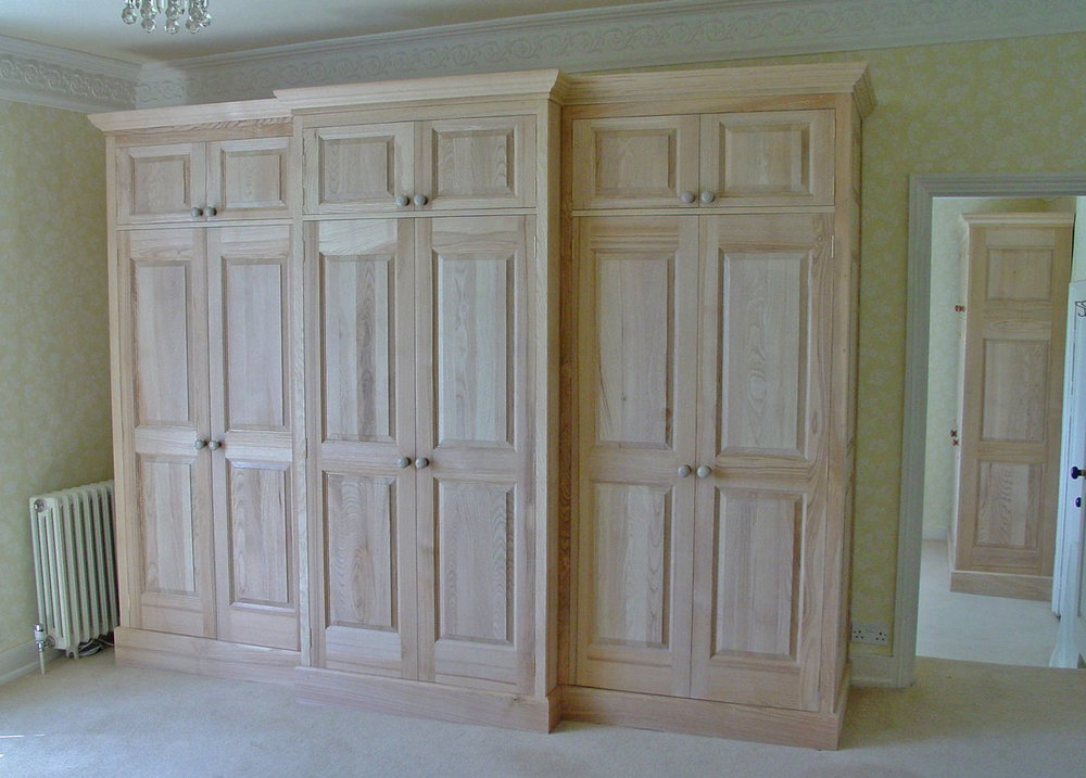 American Ash Bow Fronted Wardrobes